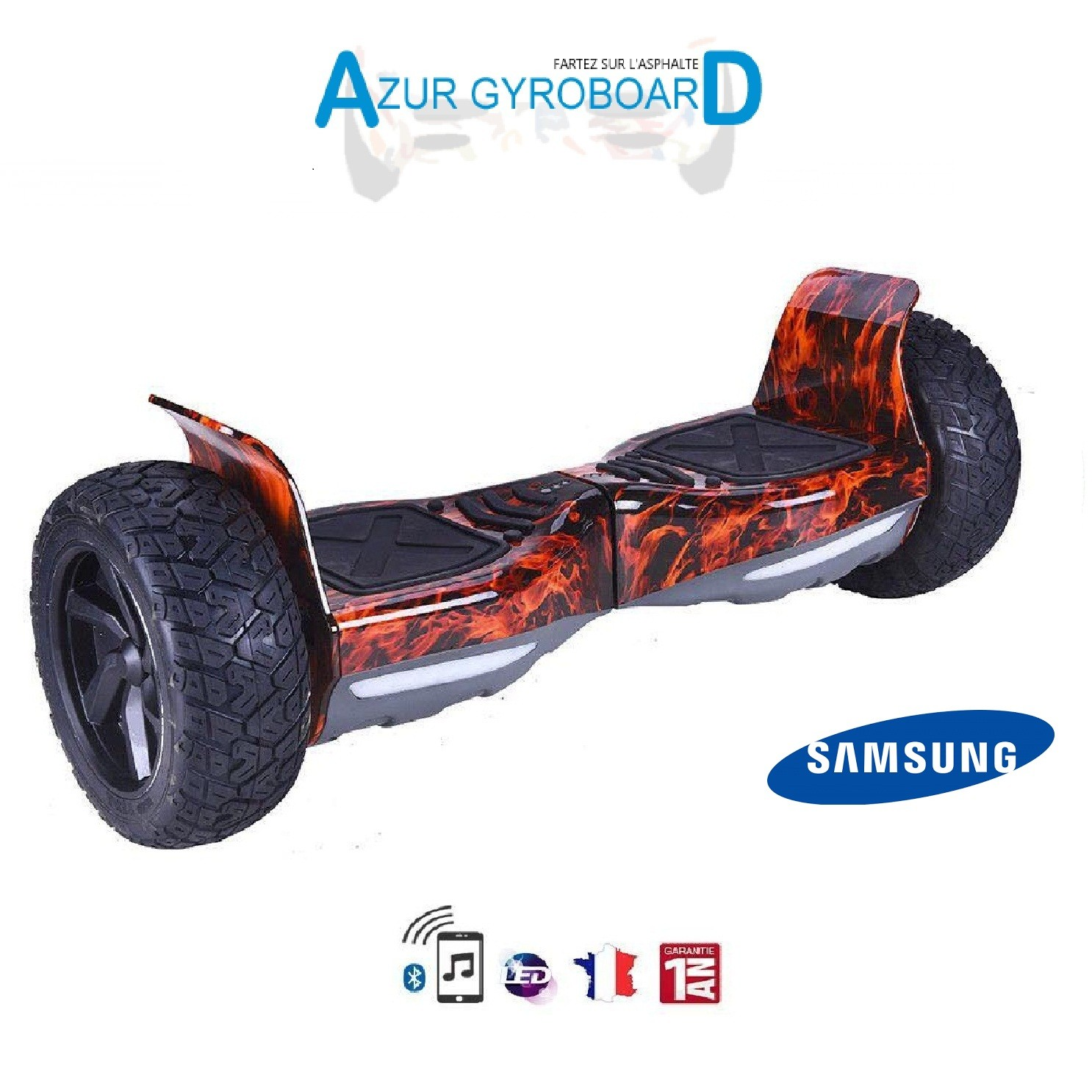"Hoverboard Hummer 8.5"" Tout Terrain Couleur"