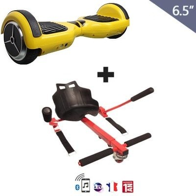 hoverboard 6 5 hoverkart jaune azur gyroboard boutique. Black Bedroom Furniture Sets. Home Design Ideas