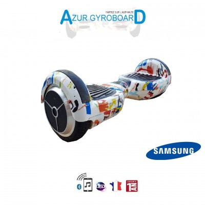 Hoverboard 6.5 pouces HighwayBoard White Graph